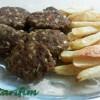 Fırında Köfte ve Patates Kızartması